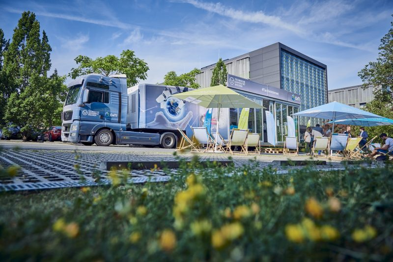 CeTI truck at TU-Dresden Excellence Cluster Tactile Internet with human-in-the-loop